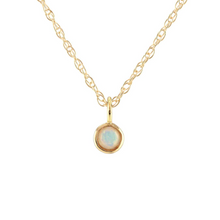Kris Nations Opal Charm Necklace Gold N778-G-OPAL