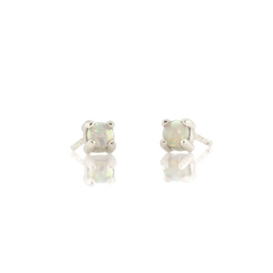 Kris Nations Opal Prong Set Studs Silver E669-S-OPAL
