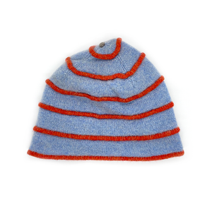 Katie Mawson Pale Blue Striped Hat KMAHA5PALEBLUE
