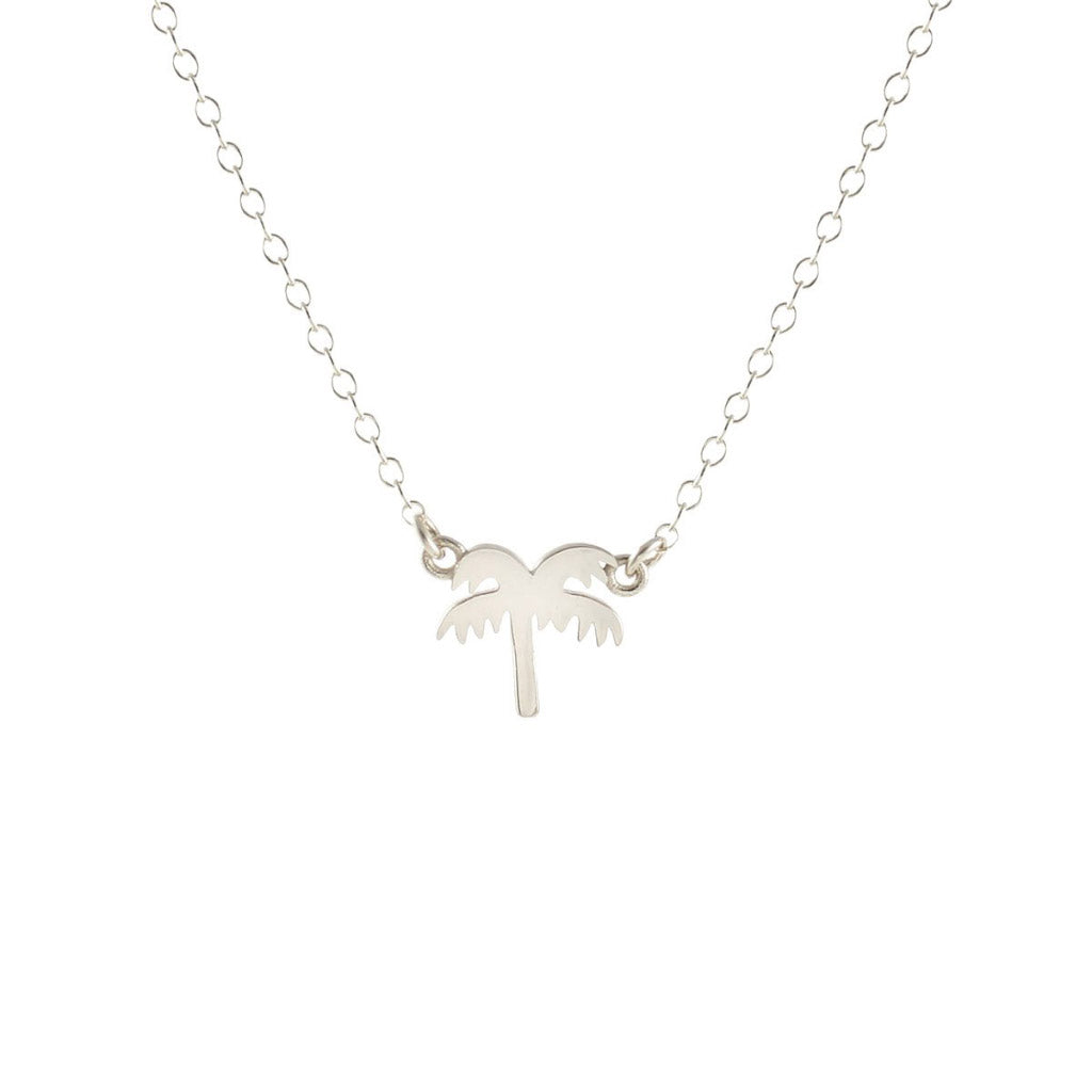 Kris Nations Palm Tree Necklace Silver N-EMJ-PALM-S