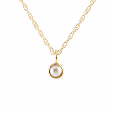 Kris Nations Pearl Charm Necklace Gold N778-G-PRL