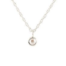 Kris Nations Pearl Charm Necklace Silver N778-S-PRL