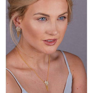 Kate Wood Pearl Encrusted Tassel Necklace EUR MC-N10-PVY