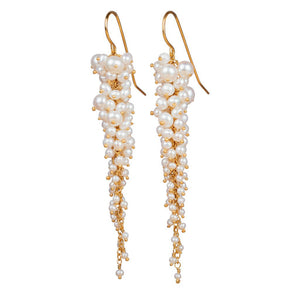 Kate Wood Pearl Waterfall Earrings EUR WF-E01-PVY