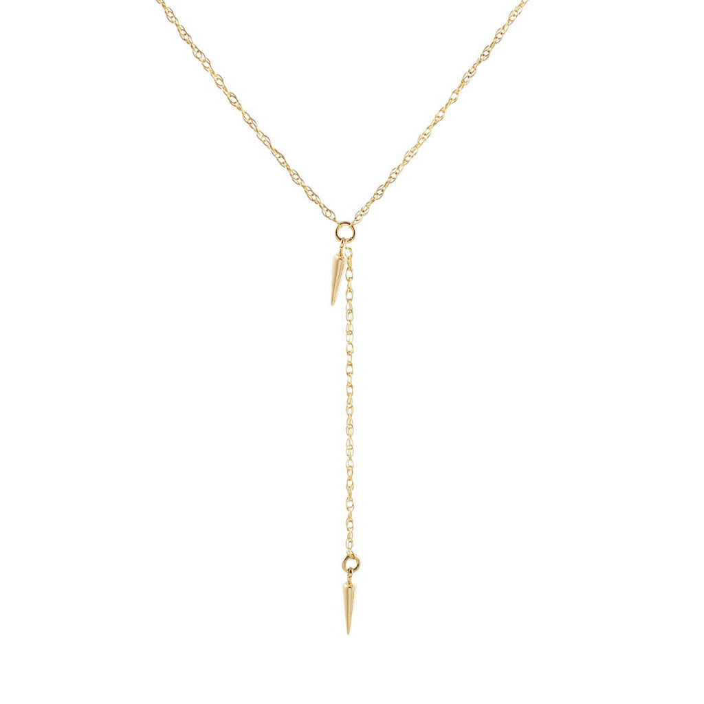 Kris Nations Petite Spike Lariat Gold N644-G