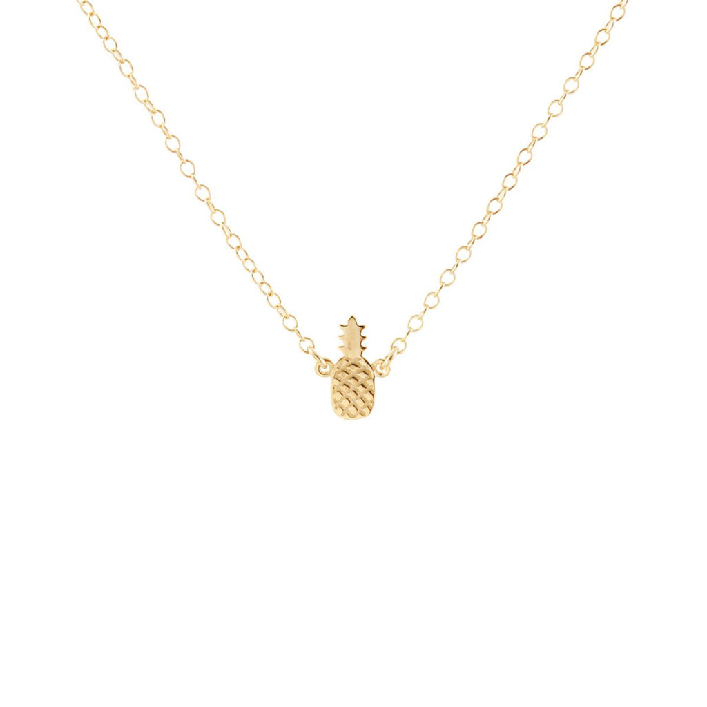 Kris Nations Pineapple Necklace Gold N-EMJ-PINE-G
