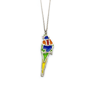 Slashpile Rainbow Lorikeet Necklace