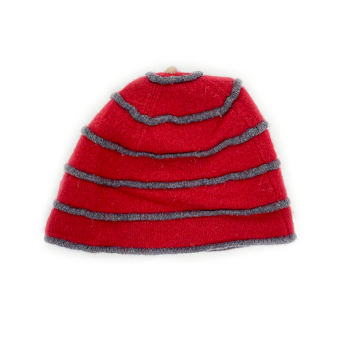Katie Mawson Red Striped Hat KMAHA5RED