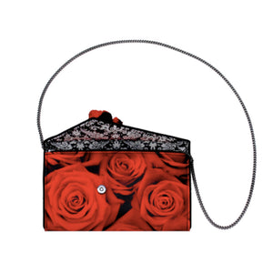 Kent Stetson Red Rose Handbag