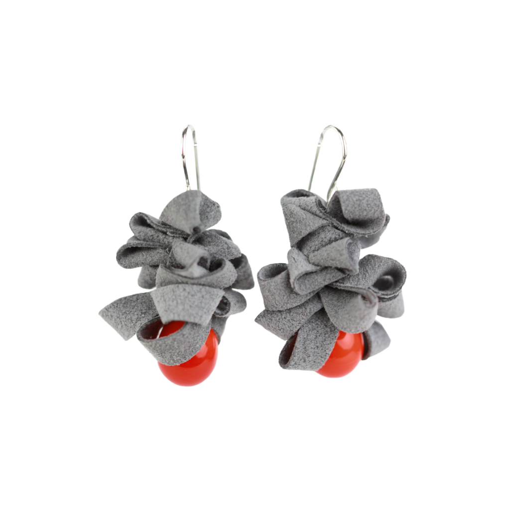Alicia Niles Ribbon Orange/Grey Earrings RB121GROR