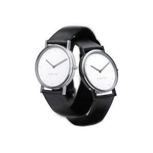 Pierre Junod Steel and Black Sides Watch