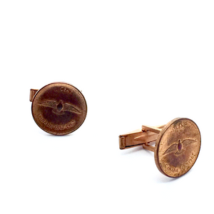 Cuff Stuff Rock Dove Penny Cufflinks CU0RD1