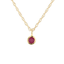 Kris Nations Ruby Charm Necklace Gold N778-G-RUBY