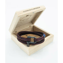 Salty Steve Bordeaux Black Bracelet