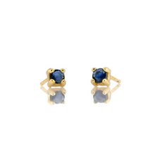 Kris Nations Sapphire Prong Set Studs Gold E669-G-SAP