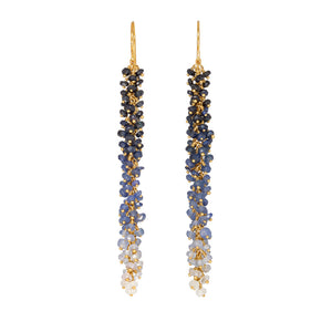 Kate Wood Sapphire & Gold Vermeil Ombre Earrings EUR CA-E01-SVY