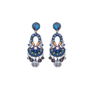 Ayala Bar Sapphire Rain Castle Earrings C1060
