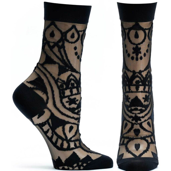 Ozone Sheer Henna Socks WJ244-19