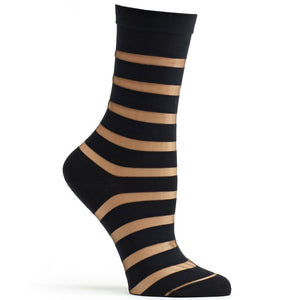 Ozone Sheer Stripe Socks W1046-19