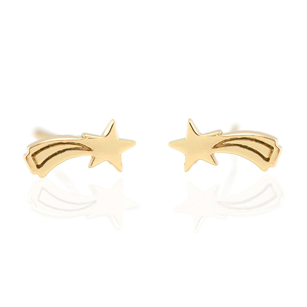 Kris Nations Shooting Star Studs Gold E648-G
