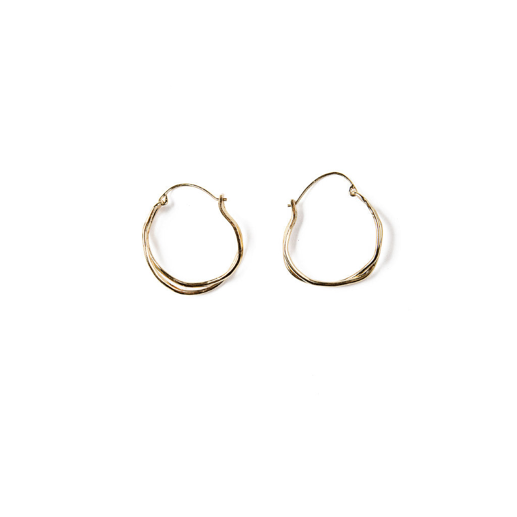 Michelle Ross Sibel Gold Earrings SE22