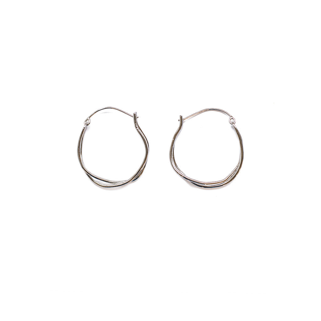 Michelle Ross Sibel Silver Earrings SE23