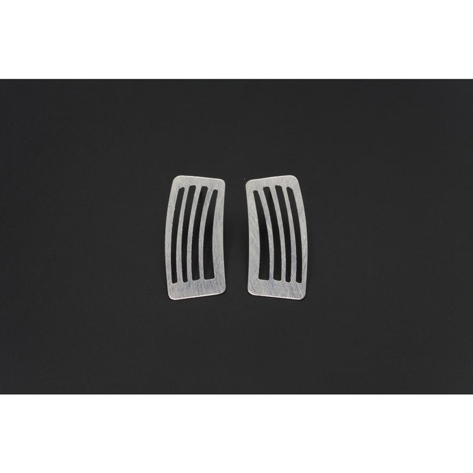 Deco Echo Silver Small Smudges Earrings 561513