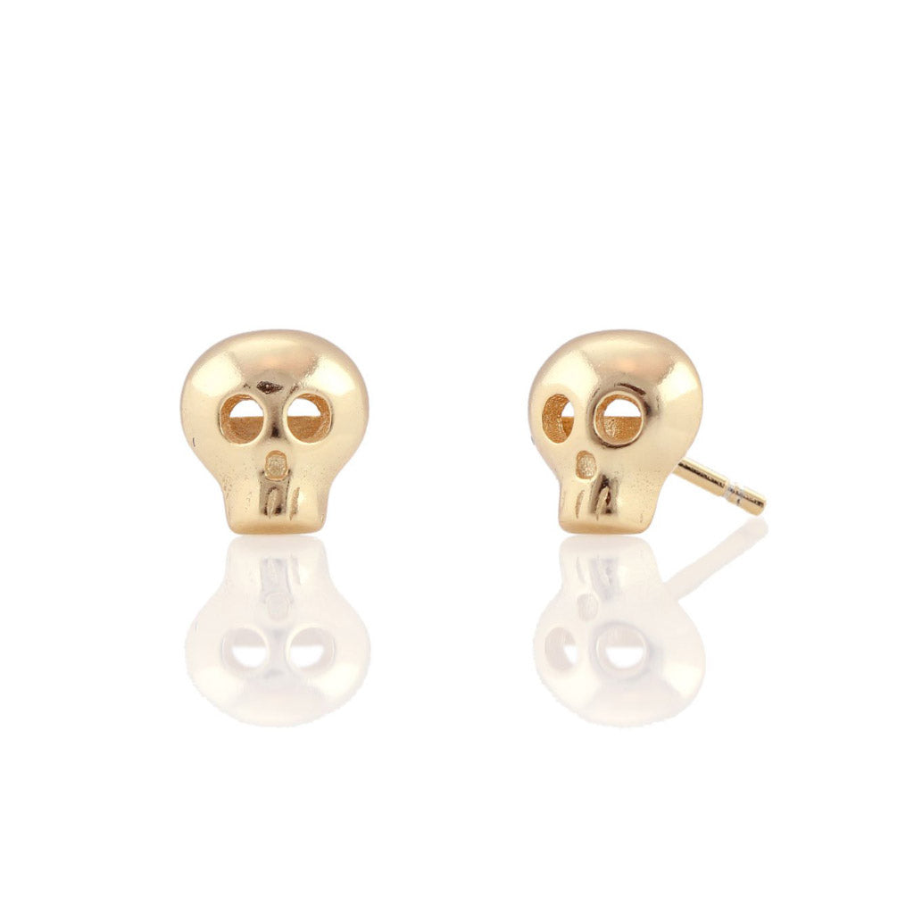 Kris Nations Skull Studs Gold E530-G