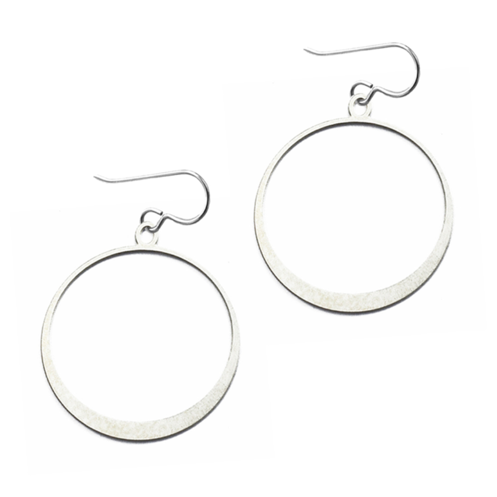Daphne Olive Small Simple Silver Hoops FS240SE