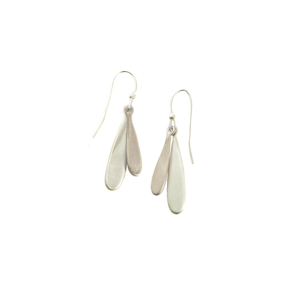 Philippa Roberts Small Double Drop Silver Earrings 140-04se