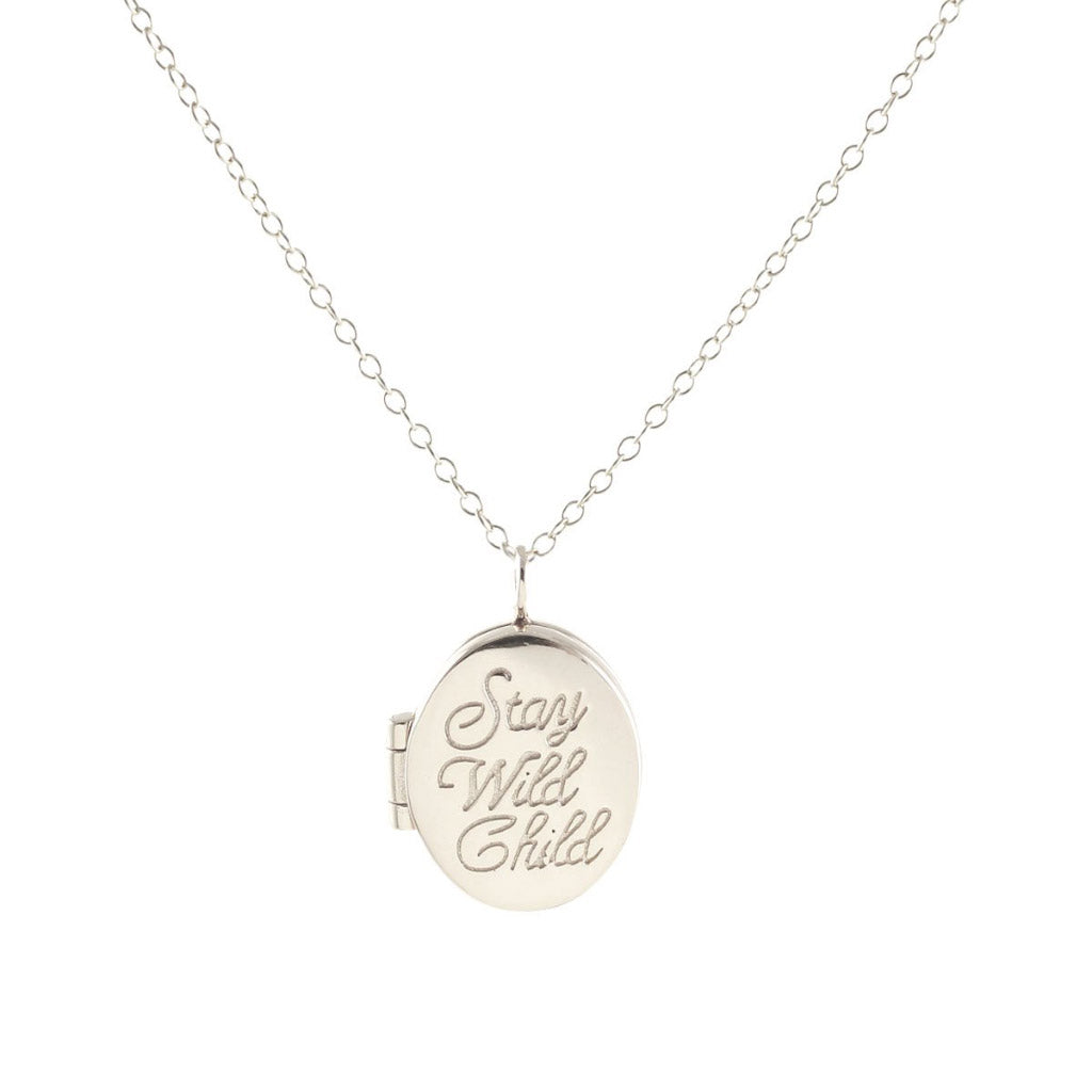 Kris Nations Stay Wild Child Locket Silver N640-S