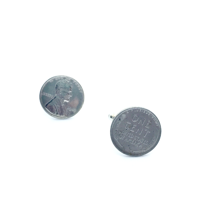 Cuff Stuff Steel Penny Cufflinks CU0SP1