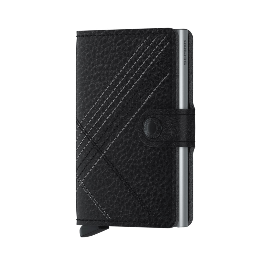 Secrid Stitch Linea Black Miniwallet