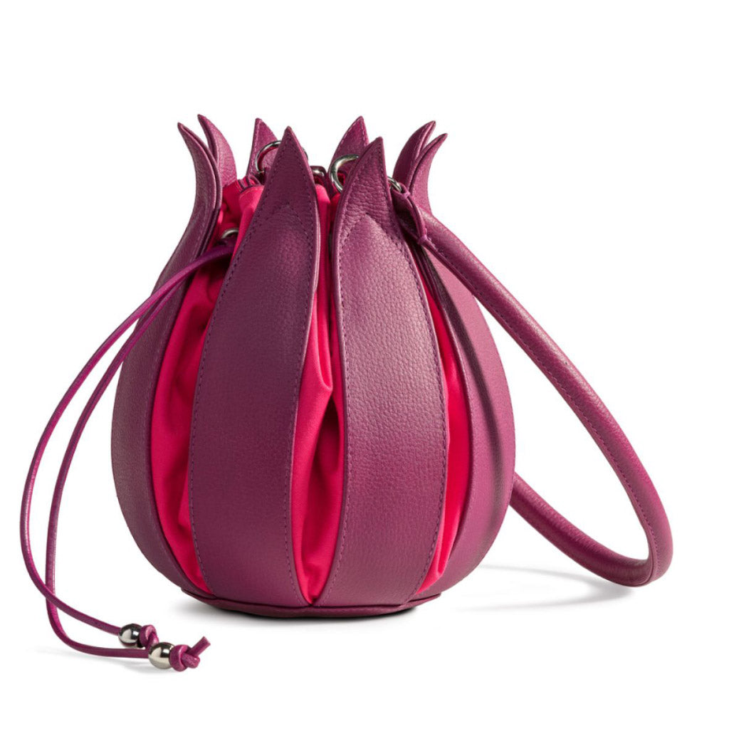 bylin Structure Leather Tulip Bag Fuchsia Pink 071303