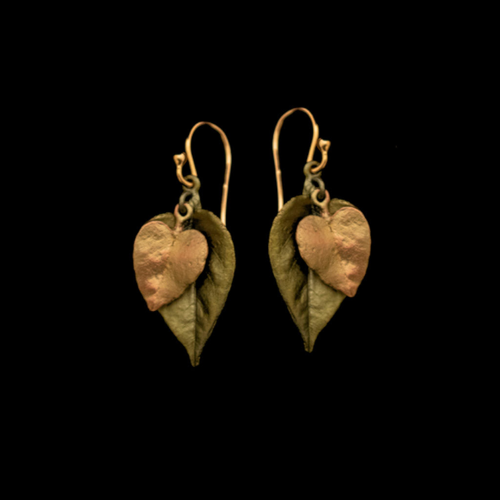 Silver Seasons Sweet Potato Vine Earrings 3572BZ