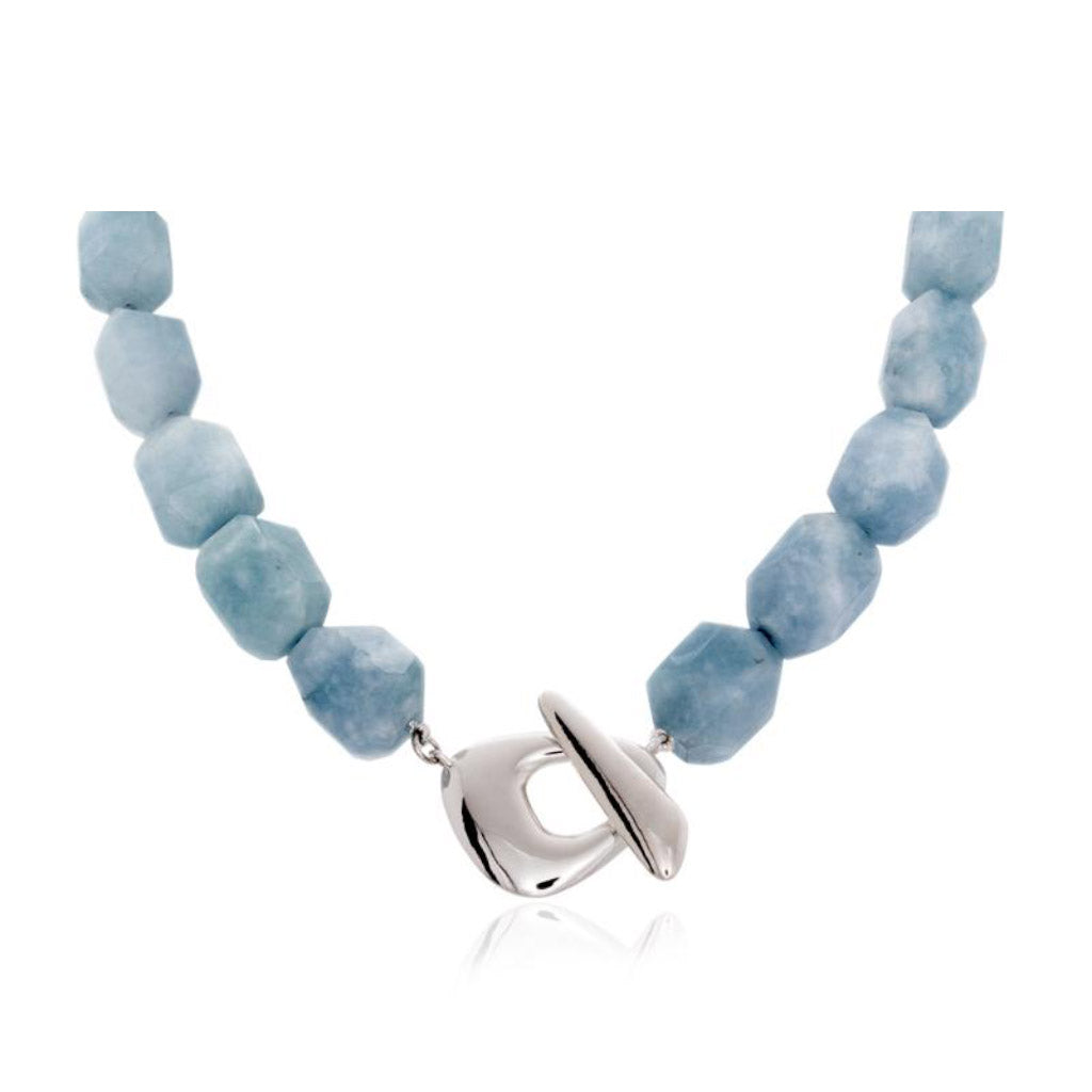 Pamela Lauz Terra Blue Quartz Necklace TER-S008