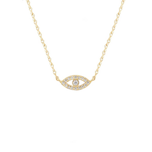 Kris Nations Third Eye Pave Necklace Gold N690-G