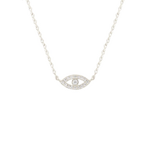 Kris Nations Third Eye Pave Necklace Silver N690-S