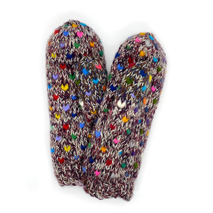 Northern Watters Thrum Mittens Blackberry 107MT599