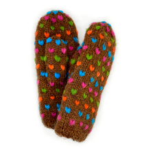 Northern Watters Thrum Mittens Cinnamon 107MT599