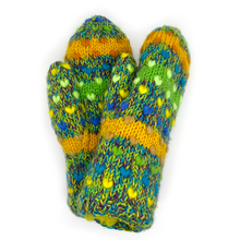 Northern Watters Thrum Mittens Tropical Fruit Striped 107MT599