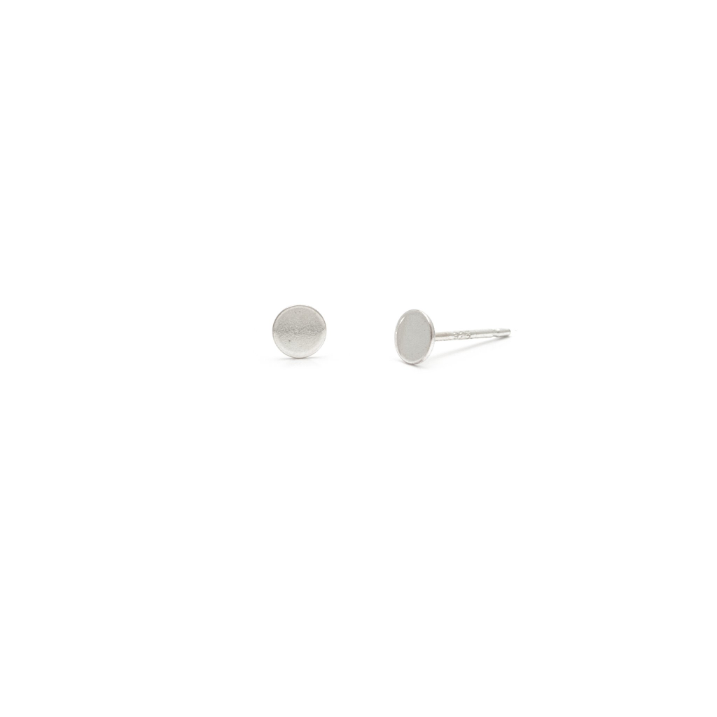 Laughing Sparrow Tiny Disk Studs 170-03