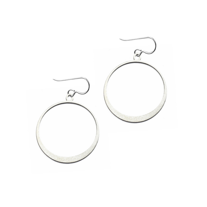 Daphne Olive Tiny Simple Silver Hoops FS240TE