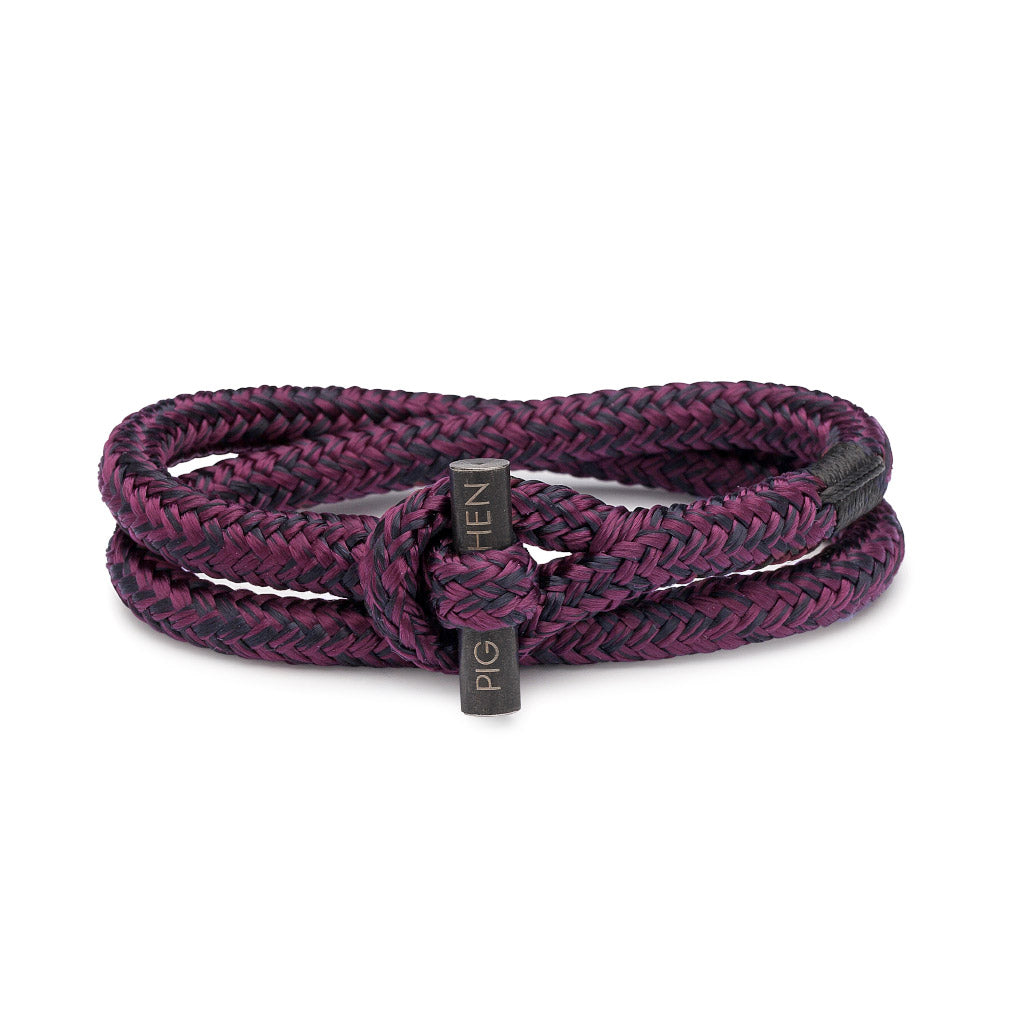 PIG & HEN Tiny Ted Purple Black