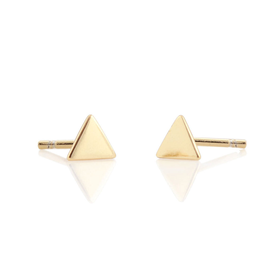 Kris Nations Triangle Studs Gold E-TRI-G