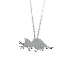 Slashpile Triceratops Dinosaur Necklace