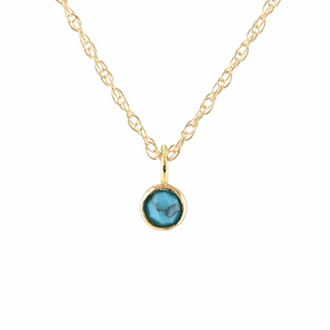 Kris Nations Turquoise Charm Necklace Gold N779-G-TRQ