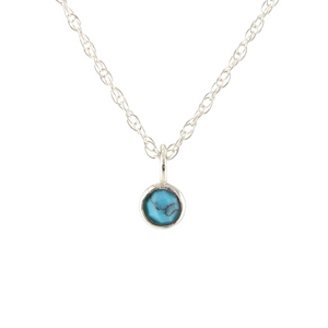 Kris Nations Turquoise Charm Necklace Silver N779-S-TRQ