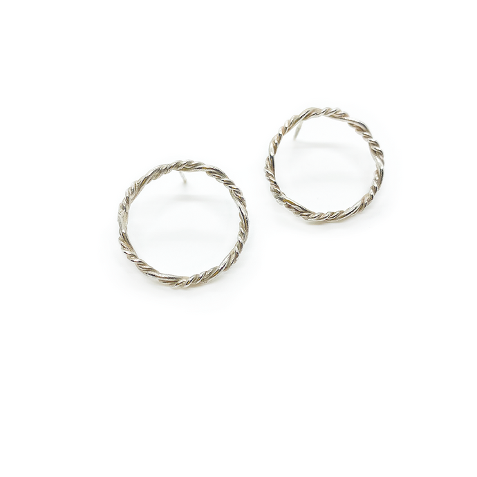 Erin Wallace Twisted Circle Earrings E0404