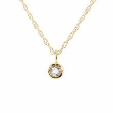 Kris Nations White Topaz Charm Necklace Gold N778-G-WHTPZ